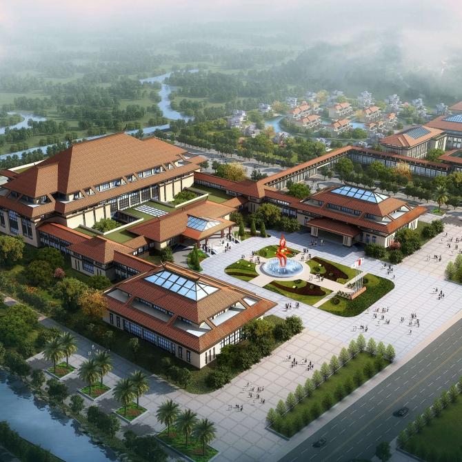 生态文化旅游_古田红色文化生态旅游城概念性总体规划-天津大学建筑设计